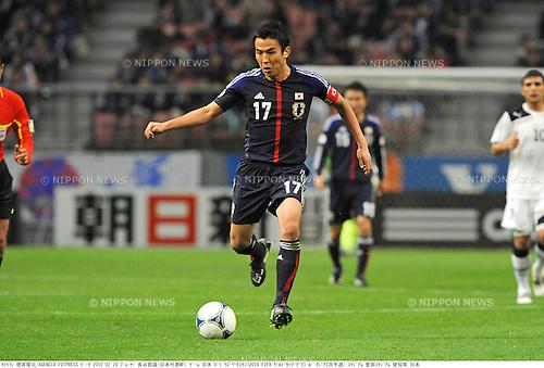 Makoto Hasebe (JPN),.FEBRUARY 29, 2012 - Football / Soccer :.2014 FIFA World Cup Asian Qualifiers Third round Group C match between Japan 0-1 Uzbekistan at Toyota Stadium in Aichi, Japan. (Photo by Takamoto Tokuhara/AFLO)