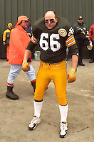 A fan dresses up as Ray Nitschke.