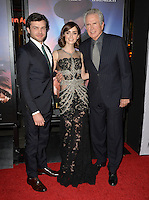 LOS ANGELES, CA. November 10, 2016: Actors Alden Ehrenreich, Lily Collins &amp; actor/director Warren Beatty at World Premiere of &quot;Rules Don't Apply&quot;, part of the AFI Fest 2016, at the TCL Chinese Theatre, Hollywood.<br /> Picture: Paul Smith/Featureflash/SilverHub 0208 004 5359/ 07711 972644 Editors@silverhubmedia.com