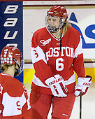 Carly Warren (BU - 6) - The Boston College Eagles defeated the Boston University Terriers 2-1 in the opening round of the Beanpot on Tuesday, February 8, 2011, at Conte Forum in Chestnut Hill, Massachusetts.