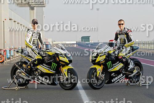 19.03.2010, Doha, Katar, QAT, MotoGP, Tests im Bild Colin Edwards and Ben Spies - Monster Tech 3 Yamaha team, EXPA Pictures © 2010, PhotoCredit: EXPA/ InsideFoto/ Semedia / SPORTIDA PHOTO AGENCY