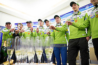 20140311: SLO, Nordic Ski - Press conference of Slovenian Ski Jumping team at Geoplin