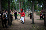 A discus throwing tournament at a LARP event outside Conifer, Colo...The Nero Empire Live Action Role Players (LARP) gather for a three day LARPING event in forest land outside of Conifer, Colo.  LARPING is a scenario-based event where participants create characters for themselves and participate in play based around that theme.  Characters form alliances, fight for common goals, and can be &quot;killed.&quot;