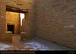T-shaped Interior Doorway, Pueblo Bonito Chacoan Great House, Anasazi Hisatsinom Ancestral Pueblo Site, Chaco Culture National Historical Park, Chaco Canyon, Nageezi, New Mexico