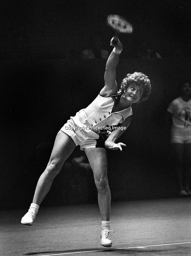 Virginia Slims tournament at  the Civic Auditiorium in San Francisco..quarterfinals match. <br />
