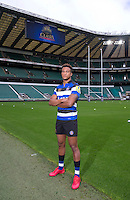 """Anthony Watson of Bath Rugby. Bath Rugby Photocall for """"The Clash"""" on September 22, 2016 at Twickenham Stadium in London, England. Photo by: Andrew Fosker / Onside Images"""