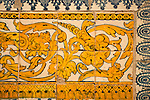 Detail of decorative tiles in the convent of the Bussaco Palace/Hotel in Portugal.