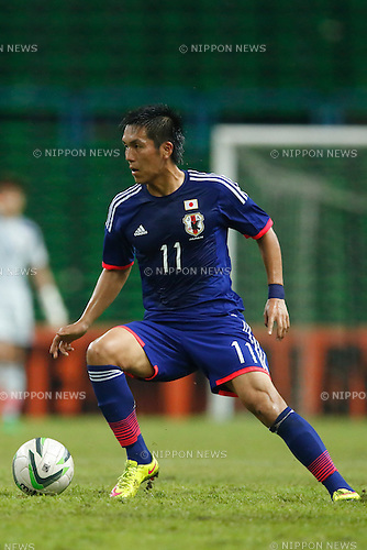 Yuya Kubo (JPN), MARCH 29, 2015 - Football / Soccer : AFC U-23 Championship 2016 Qualification Group I match between U-22 Japan - U-22 Vietnam at Shah Alam Stadium in Shah Alam, Malaysia. (Photo by Sho Tamura/AFLO SPORT)