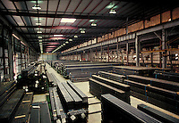 Tubular steel storage at steel fabrication plant. Birmingham Alabama, Copperweld.
