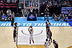 GREENVILLE, SC - MARCH 17: Kennedy Meeks (3) of the University of North Carolina shoots a free throw during the 2017 NCAA Men's Basketball Tournament held at Bon Secours Wellness Arena on March 17, 2017 in Greenville, South Carolina. (Photo by Grant Halverson/NCAA Photos via Getty Images)