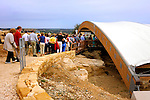 Travel stock photo of a Group of senior tourists entering the Archaeological Site of Kourion in Cyprus Spring 2007 Horizontal Travel tourism sightseeing recreational concept
