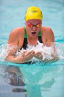 Santa Clara, California - Saturday June 4, 2016: Georgia Bohl races in the Women's 200 LC Meter Breaststroke at the Arena Pro Swim Series at Santa Clara.