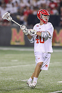 College Park, MD - April 29, 2017: Maryland Terrapins Connor Kelly (40) takes a shot during game between John Hopkins and Maryland at  Capital One Field at Maryland Stadium in College Park, MD.  (Photo by Elliott Brown/Media Images International)