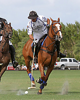WELLINGTON, FL - APRIL 15:  Valiente's Roberto Zedda controls the ball in the $100,000 World Cup Final, at the Grand Champions Polo Club, on April 15, 2017 in Wellington, Florida. (Photo by Liz Lamont/Eclipse Sportswire/Getty Images)