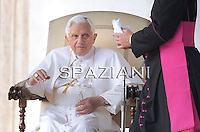 Pope Benedict XVI  the weekly general audience on October 13, 2010, in St Peter's square at the Vatican