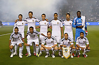 CARSON, CA – April 2, 2011: LA Galaxy starting line up for the match between LA Galaxy and Philadelphia Union at the Home Depot Center, March 26, 2011 in Carson, California. Final score LA Galaxy 1, Philadelphia Union 0.
