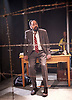 My Children! <br /> My Africa!<br /> by Athol Fugard <br /> at The Tristan Bates Theatre, Covent Garden, London, Great Britain <br /> 30th April 2015 <br /> <br /> <br /> Anthony Ofoegbu as Mr M <br /> <br /> directed by Roger Mortimer <br /> <br /> Photograph by Elliott Franks <br /> Image licensed to Elliott Franks Photography Services