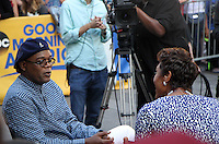 NEW YORK, NY-June 29: Robin Roberts, Samual L.  Jackson at Good Morning America  to talk about new movie The Legend of Tarzan in New York. NY June 29, 2016. Credit:RW/MediaPunch