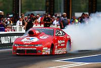 Jun 19, 2015; Bristol, TN, USA; NHRA pro stock driver Drew Skillman during qualifying for the Thunder Valley Nationals at Bristol Dragway. Mandatory Credit: Mark J. Rebilas-