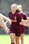 29 September 2013: Virginia Tech's Katie Yensen. The Duke University Blue Devils hosted the Virginia Tech University Hokies at Koskinen Stadium in Durham, NC in a 2013 NCAA Division I Women's Soccer match. The game ended in a 1-1 tie after two overtimes.
