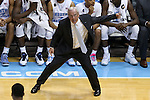 07 March 2015: UNC head coach Roy Williams. The University of North Carolina Tar Heels played the Duke University Blue Devils in an NCAA Division I Men's basketball game at the Dean E. Smith Center in Chapel Hill, North Carolina. Duke won the game 84-77.