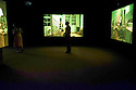 London, UK. 20.07.2016. Ragnar Kjartansson's solo exhibition at the Barbican Gallery.  Bringing together live performance, music, film, painting, sculpture and drawing, this solo exhibition is the first in the UK to survey the work of the Icelandic artist, Ragnar Kjartansson. Picture shows: The Visitors, 2012<br /> Nine-channel video installation. Photograph &copy; Jane Hobson.