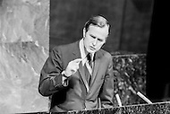 18 Oct 1971 --- United States Ambassador to the United Nations, George Bush warns about the danger of expelling the Republic of China (or Taiwan) from the U.N. during the United Nations General Assembly. --- Image by © JP Laffont