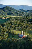 Red barn on farm east tennessee
