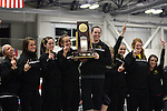 12 MAR 2011:  The women's team from Wisconsin Oshkosh celebrate their team championship at the Division III Men's and Women's Indoor Track and Field Championships held at the Capital Center Fieldhouse on the Capital University campus in Columbus, OH.  Jay LaPrete/NCAA Photos