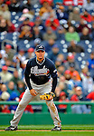 13 April 2008: Atlanta Braves' third baseman Chipper Jones in action against the Washington Nationals at Nationals Park, in Washington, DC. The Nationals ended their 9-game losing streak by defeating the Braves 5-4 in the last game of their 3-game series...Mandatory Photo Credit: Ed Wolfstein Photo