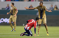 Philadelphia Union forward Danny Mwanga (10) looks for a call from the ref. The Philadelphia Union and CD Chivas USA played to 1-1 draw at Home Depot Center stadium in Carson, California on Saturday evening July 3, 2010..