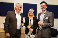 From left, Tim Mee of Nottingham Trent University, Isobel Radford of Freeths and Rob Pugh of Potter Clarkson