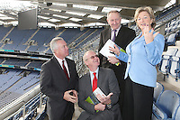 NO REPRO FEE. 19/10/2010. Ulster Bank Irish Franchise Association EXPO and Awards. Pictured at the launch of the Ulster Bank Irish Franchise Association EXPO and Awards which takes place on February 25th and 26th 2011 at Croke Park Dublin were Tom Shanahan, Executive Director of the Irish Franchise Association, Brian Hunt, Central Dublin Director of Business Banking, Ulster Bank, David Killeen, Chairman of The Irish Franchise Association and Orna Stokes, Senior Manger, Strategic Operations, Ulster Bank.   See www.irishfranchiseassociation.com for information and to download entry forms and information on the exhibition. Picture James Horan/Collins Photos