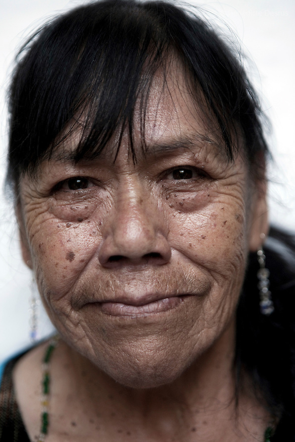 Portrait of Guadalupe, a resident of Casa Xochiquetzal, at the shelter in Mexico City on July 29, 2008. Casa Xochiquetzal is a shelter for elderly sex workers in Mexico City. It gives the women refuge, food, health services, a space to learn about their human rights and courses to help them rediscover their self-confidence and deal with traumatic aspects of their lives. Casa Xochiquetzal provides a space to age with dignity for a group of vulnerable women who are often invisible to society at large. It is the only such shelter existing in Latin America. Photo by Bénédicte Desrus