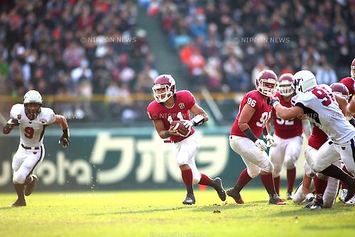 "Yuto Nishiyama, DECEMBER 13, 2015 - American Football : All Japan American Football college Championship final match ""Koshien Bowl"" between Waseda University ""Big Bears"" 27 - 28 Ritsumeikan University ""Panthers"" at Koshien Stadium in Hyogo, Japan. (Photo by AFLO)"