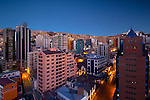 The Sopocachi neighborhood of La Paz has some of the city's largest buildings and biggest residential areas.  La Paz is the world's highest de facto capital city at roughly 12,000 feet above sea level.