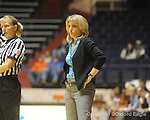 Ole Miss head coach Renee Ladner vs. Auburn in women's college basketball at the C.M. &quot;Tad&quot; SMith Coliseum in Oxford, Miss. on Thursday, February 25, 2010.