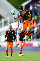 Sheffield Wednesday's Jordan Rhodes vies for possession with Huddersfield Town's Jonathan Hogg<br /> <br /> Photographer Chris Vaughan/CameraSport<br /> <br /> The EFL Sky Bet Championship Play-Off Semi Final First Leg - Huddersfield Town v Sheffield Wednesday - Saturday 13th May 2017 - The John Smith's Stadium - Huddersfield<br /> <br /> World Copyright &copy; 2017 CameraSport. All rights reserved. 43 Linden Ave. Countesthorpe. Leicester. England. LE8 5PG - Tel: +44 (0) 116 277 4147 - admin@camerasport.com - www.camerasport.com