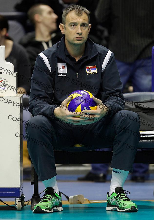 Odbojka Volleyball<br /> Srbija v Bugarska-Prijateljski mec<br /> Head coach Nikola Grbic<br /> Beograd, 29.12.2015.<br /> foto: Srdjan Stevanovic/Starsportphoto &copy;
