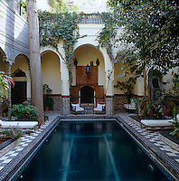 Hidden in the midst of the bustling Medina in Marrakech is the cool and tranquil courtyard of this traditional riad