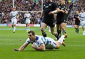 11.11.2012 Edinburgh, Scotland.     Scotland's Tim Visser scoring his 1st try for Scotland during the EMC Scottish Rugby Autumn Test between Scotland v New Zealand from Murrayfield Stadium.
