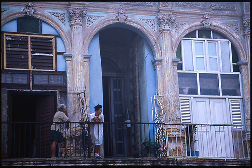 Old women on a balcony, Havana, Cuba by Paul Cooklin