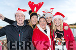 Ray Hanafin, Lorraine Lynch, Majella O'Sullivan, Clodagh Hanafin and Laura Bees, all from Tralee, pictured at the Santa Fun Run, in aid of Barretstown, starting from the Tralee Bay Wetlands, on Sunday last.