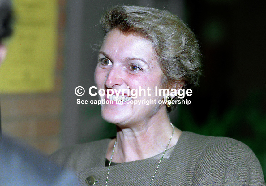 Ann Heseltine, wife, Michael Heseltine, MP, politician, Conservative Party, UK, 19901058AH1.<br />