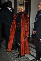 Mary J Blige at the &quot;The Tale of Thomas Burberry&quot; film campaign party, Thomas's at Burberry Regent Street, Vigo Street, London, England, UK, on Tuesday 01 November 2016. <br /> CAP/CAN<br /> &copy;CAN/Capital Pictures /MediaPunch ***NORTH AND SOUTH AMERICAS ONLY***