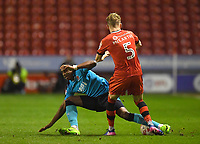 Fleetwood Town's Amari'i Bell looses out to Walsall's Jason McCarthy<br /> <br /> Photographer Dave Howarth/CameraSport<br /> <br /> The EFL Sky Bet League One - Walsall v Fleetwood Town - Tuesday 14th March 2017 - Banks's Stadium - Walsall<br /> <br /> World Copyright &copy; 2017 CameraSport. All rights reserved. 43 Linden Ave. Countesthorpe. Leicester. England. LE8 5PG - Tel: +44 (0) 116 277 4147 - admin@camerasport.com - www.camerasport.com