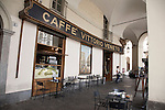 Cafe Vittorio Veneto in Vittorio Veneto Square in Turin - Torino, Italy