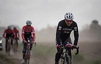 John Degenkolb (DEU/Trek-Segafredo)<br /> <br /> Team Trek-Segafredo during their 2017 Paris-Roubaix recon, 3 days prior to the event.