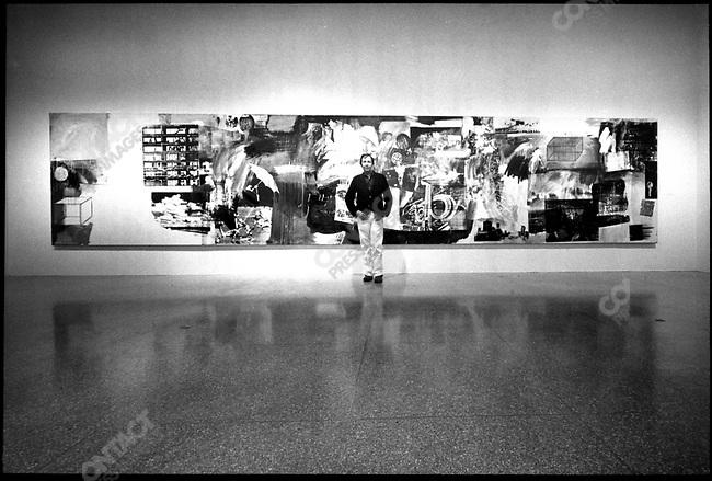 Robert Rauschenberg, artist, at the Washington, DC exhibition of his work, 1976