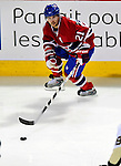 21 September 2009: Montreal Canadiens' right wing forward Brian Gionta in action during a pre-season game against the Pittsburgh Penguins at the Bell Centre in Montreal, Quebec, Canada. The Canadiens edged out the defending Stanley Cup Champions 4-3. Mandatory Credit: Ed Wolfstein Photo